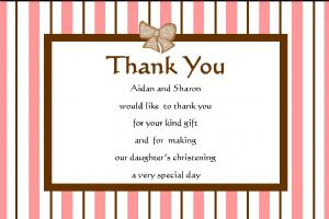 Personalised Girl Christening Thank You Cards (2)